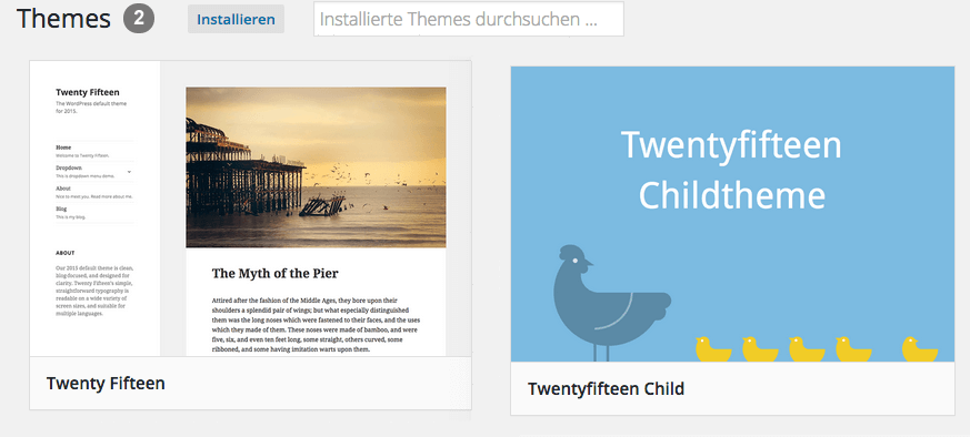 Childtheme-mit Screenshot